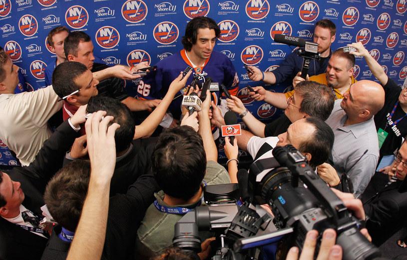 Matt Moulson zdobyła dwa gole dla New York Islanders /AFP