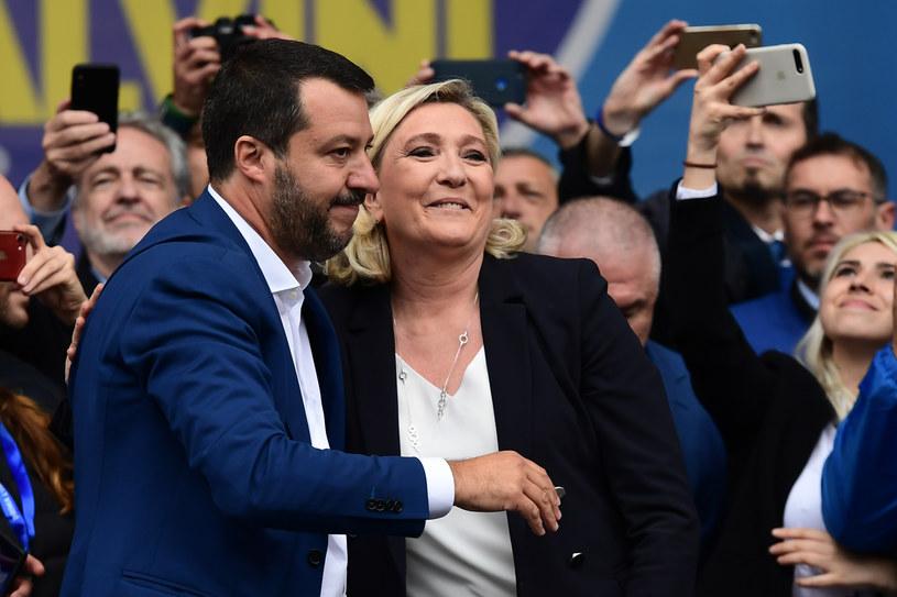 Matteo Salvini i Marine Le Pen /AFP
