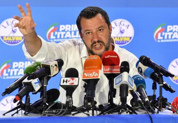 Matteo Salvini, wicepremier Włoch /EPA