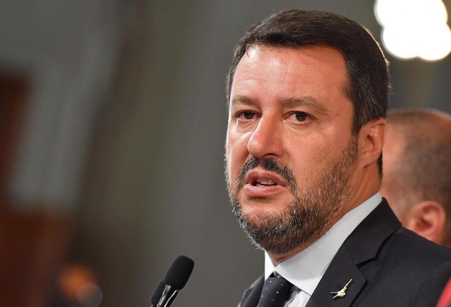 Matteo Salvini /ETTORE FERRARI /PAP/EPA