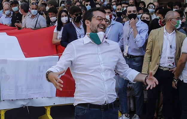 Matteo Salvini /Fabio Frustaci /PAP/EPA