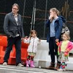 Matthew Broderick z dziećmi na mieście