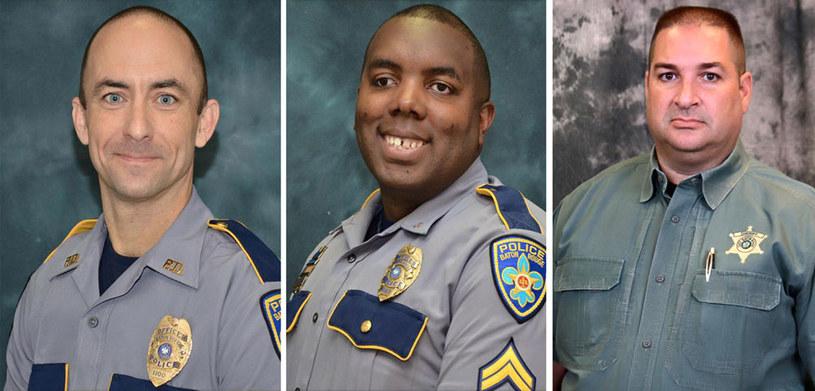 Matthew Gerald, Montrell Jackson i Brad Garafola: Ofiary ataku w Baton Rouge /AFP