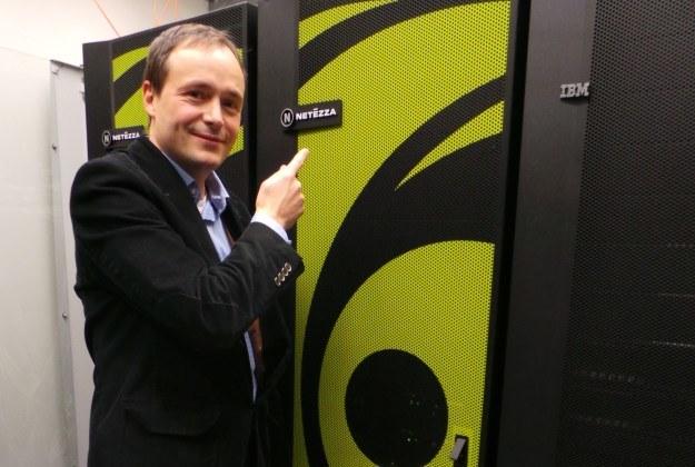 Matthias Funke, Dyrektor Oprogramowania IBM w Polsce prezentuje rozwiązania klasy Netezza /INTERIA.PL