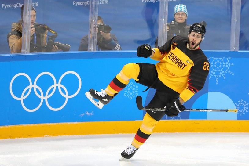 Matthias Plachta po awansie do finału igrzysk olimpijskich hokeistów /PAP/EPA