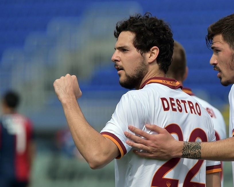 Mattia Destro zdobył trzy bramki dla Romy /AFP