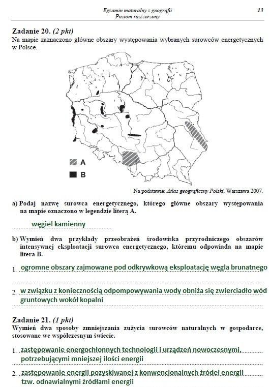 Matura 2014. Egzamin z geografii na poziomie rozszerzonym. Arkusz i rozwiązania /INTERIA.PL
