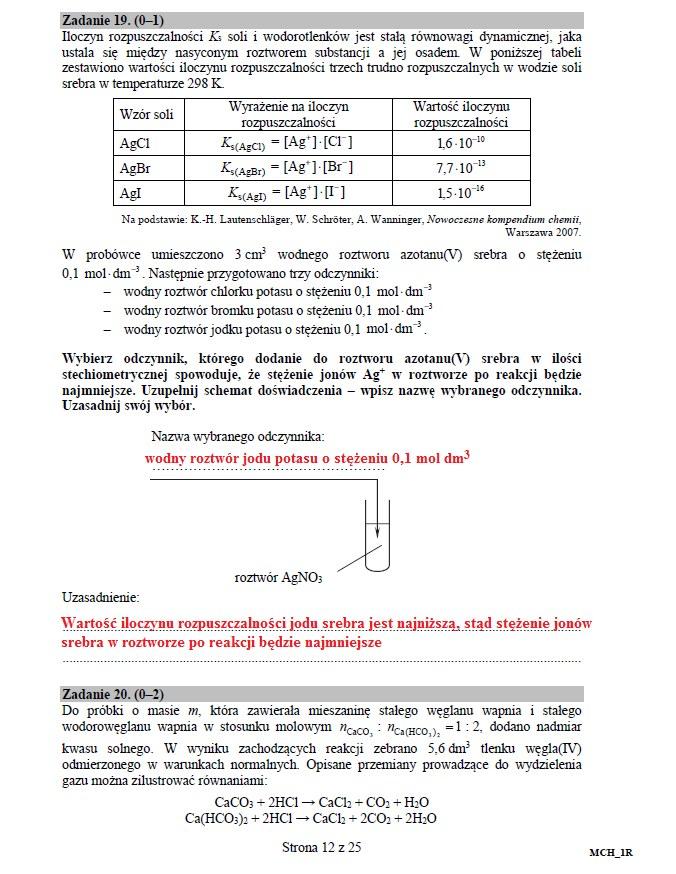 Matura 2016: Chemia poziom rozszerzony, str. 12 /INTERIA.PL