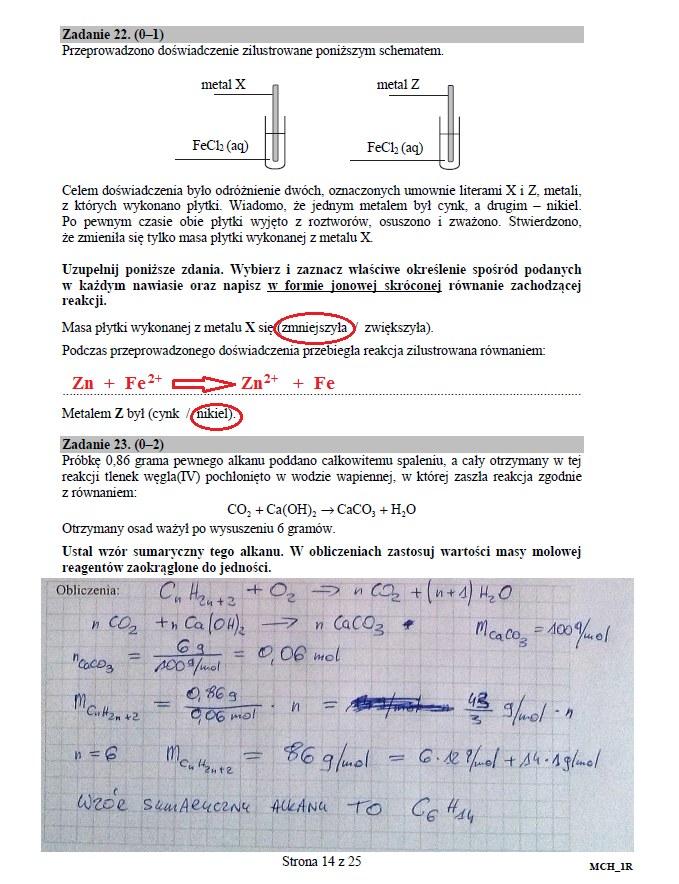 Matura 2016: Chemia poziom rozszerzony, str. 14 /INTERIA.PL