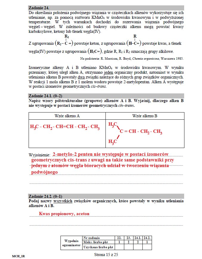 Matura 2016: Chemia poziom rozszerzony, str. 15 /INTERIA.PL