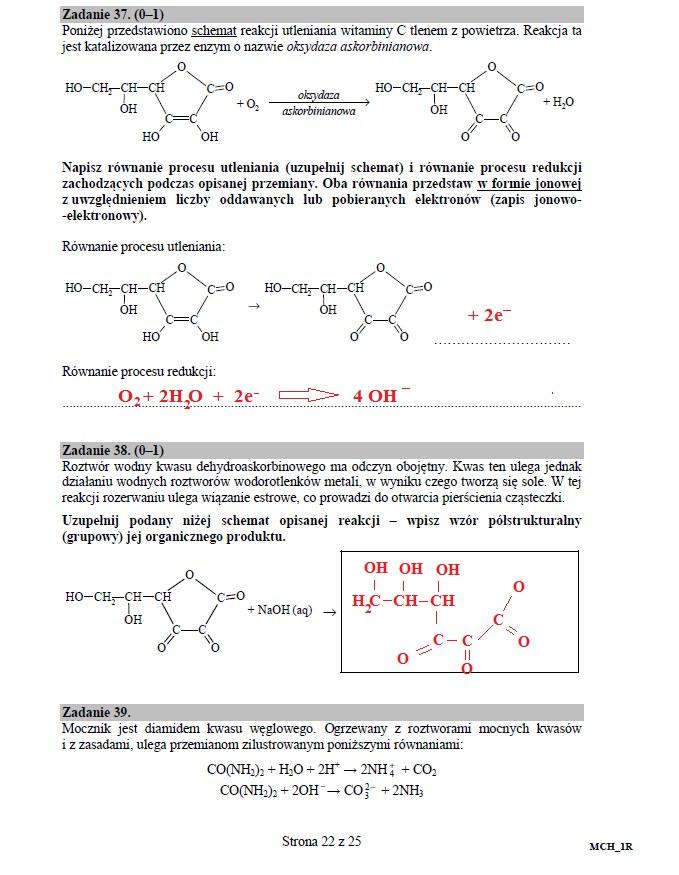 Matura 2016: Chemia poziom rozszerzony, str. 22 /INTERIA.PL