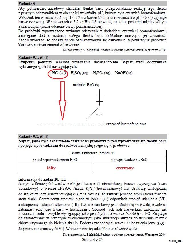 Matura 2016: Chemia poziom rozszerzony, str. 6 /INTERIA.PL