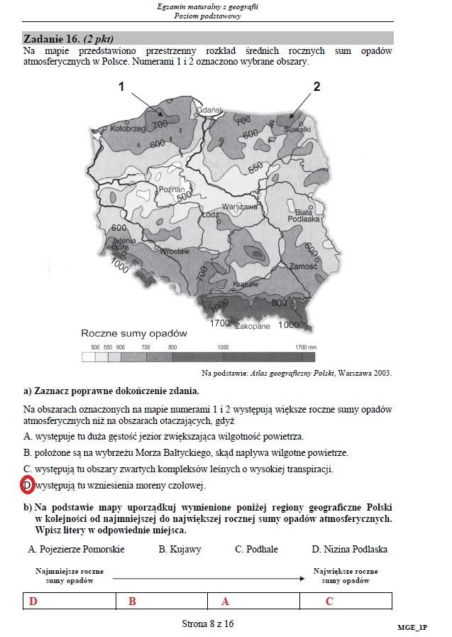 Matura 2016: Geografia, poziom podstawowy /INTERIA.PL