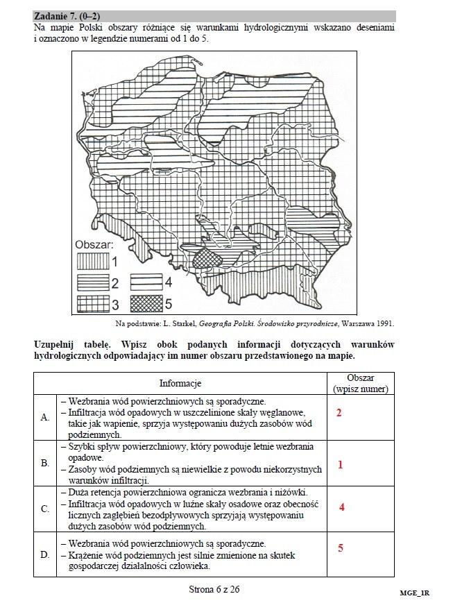 Matura 2016: Geografia, poziom rozszerzony /INTERIA.PL