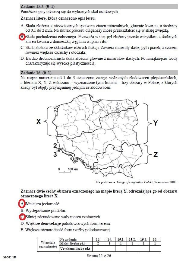 matura 2012 geografia odpowiedzi