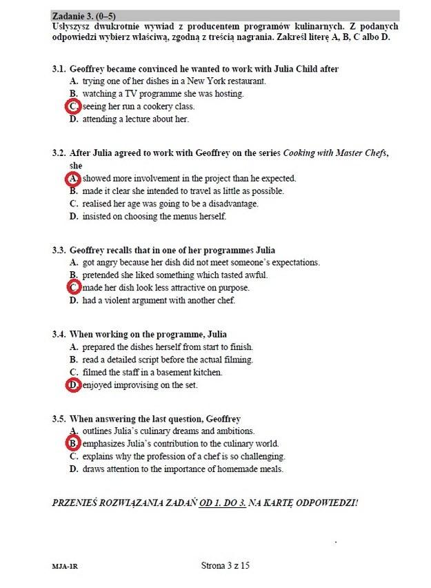 matura 2012 angielski rozszerzony odpowiedzi