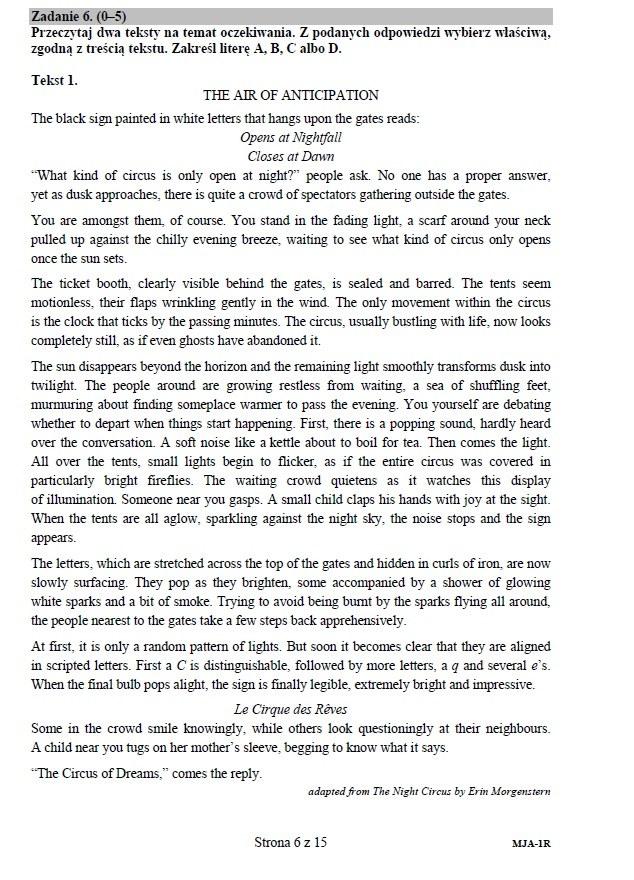 artykuł matura angielski tematy
