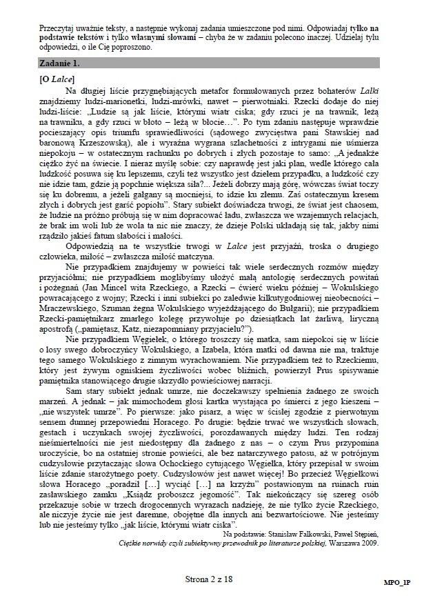 matura język polski przykładowe wypracowania