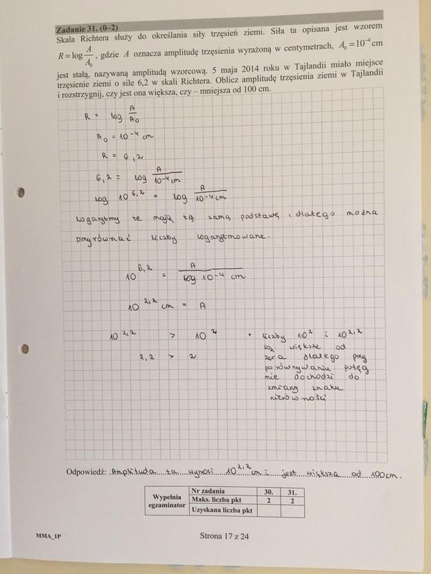 Matura 2016 - propozycje rozwiązań z matematyki, poziom podstawowy /RMF FM