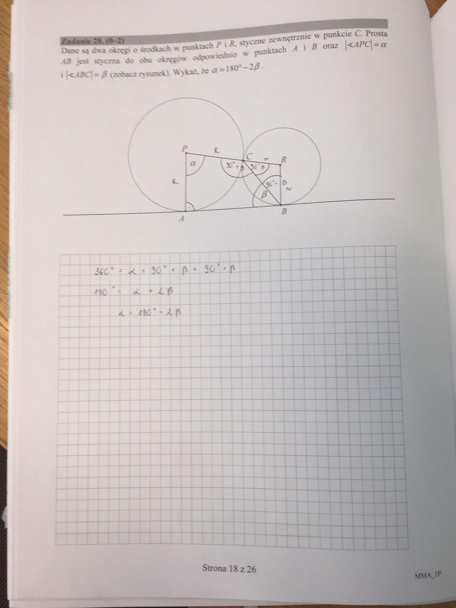 Matura 2017. Matematyka, poziom podstawowy /RMF FM /Zrzut ekranu