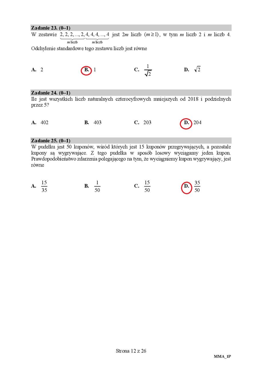 Matura 2018, matematyka, poziom podstawowy /RMF FM