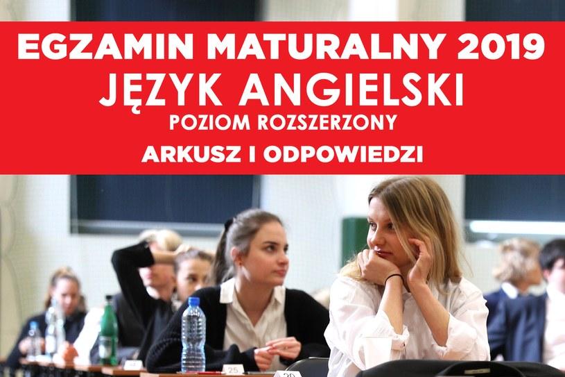Matura 2019: Angielski poziom rozszerzony /Rafał Gaglewski /Reporter