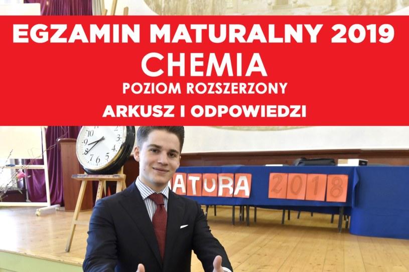 Matura 2019. Chemia - poziom rozszerzony, zdj. ilustracyjne /Kosycarz Foto Press / KFP /East News