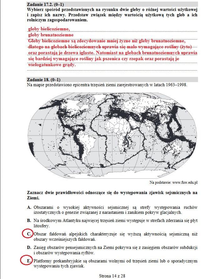 Matura 2019: Geografia poziom rozszerzony /INTERIA.PL