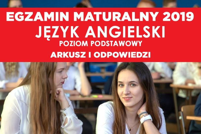 Matura 2019: Język angielski poziom podstawowy /Sławomir Olzacki /Agencja FORUM