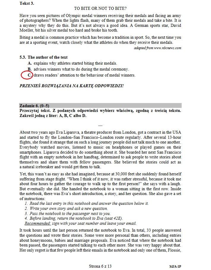 Matura 2019: Język angielski poziom podstawowy /INTERIA.PL