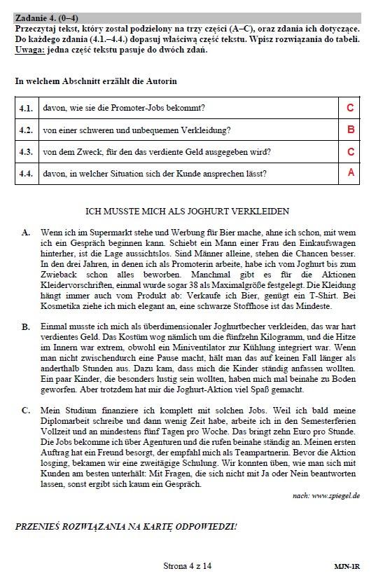 Matura 2019: Język niemiecki, poziom rozszerzony /INTERIA.PL