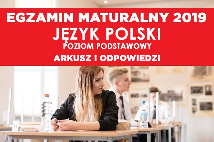 Matura 2019. Język polski poziom podstawowy /Fot. Daniel Dmitriew /Agencja FORUM