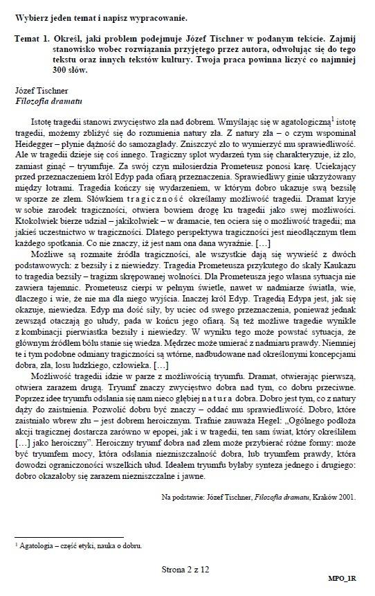 matura ustna 2019 polski