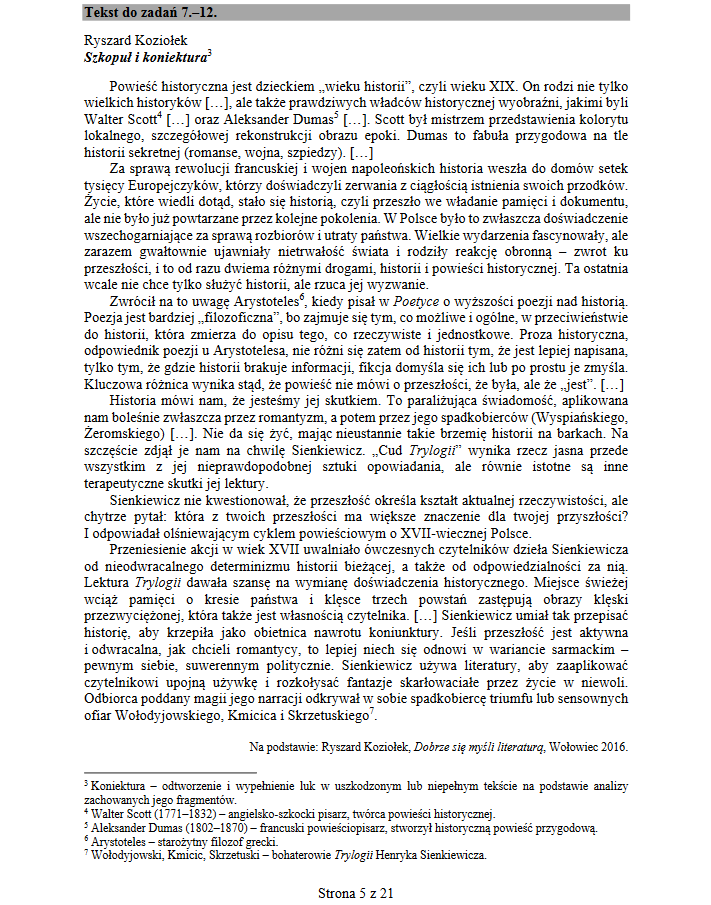 Matura 2019. Język polski /CKE