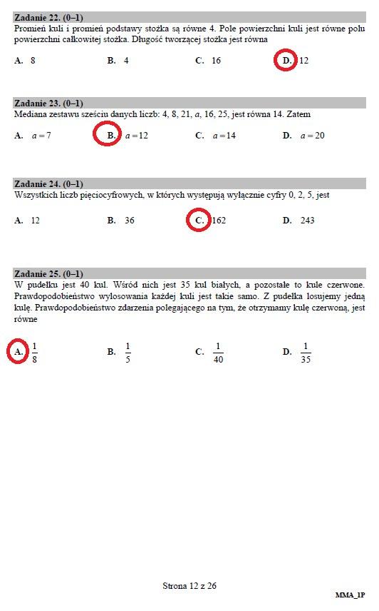 Matura 2019: Matematyka – poziom podstawowy, str. 12 /INTERIA.PL