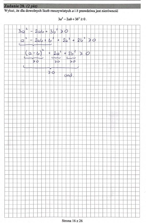 Matura 2019: Matematyka - poziom podstawowy, str. 16 /INTERIA.PL
