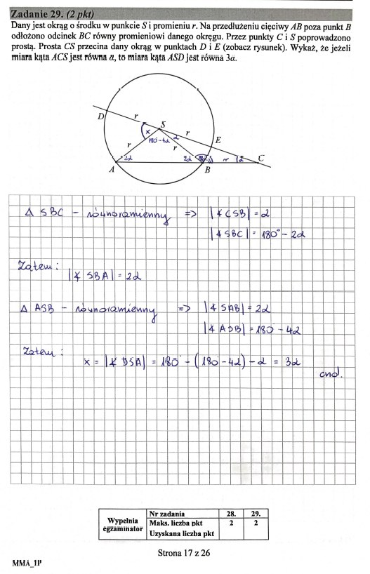 Matura 2019: Matematyka - poziom podstawowy, str. 17 /INTERIA.PL