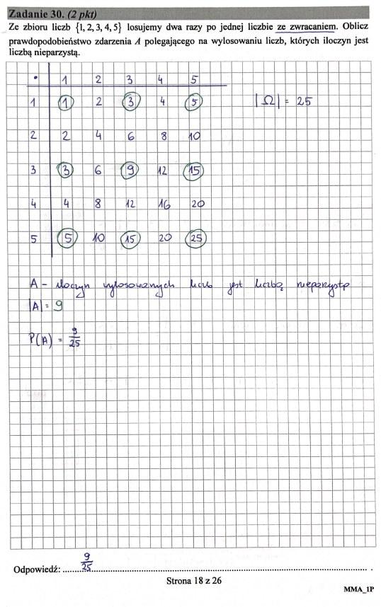 Matura 2019: Matematyka - poziom podstawowy, str. 18 /INTERIA.PL
