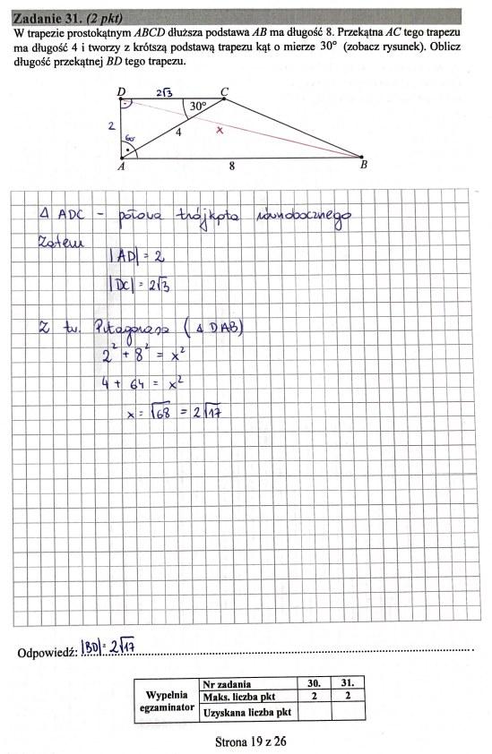Matura 2019: Matematyka - poziom podstawowy, str. 19 /INTERIA.PL