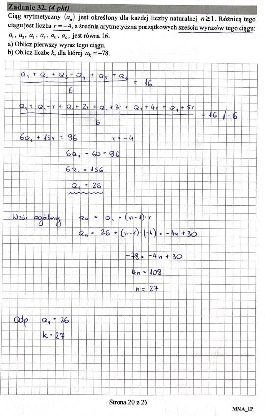 Matura 2019: Matematyka - poziom podstawowy, str. 20 /INTERIA.PL