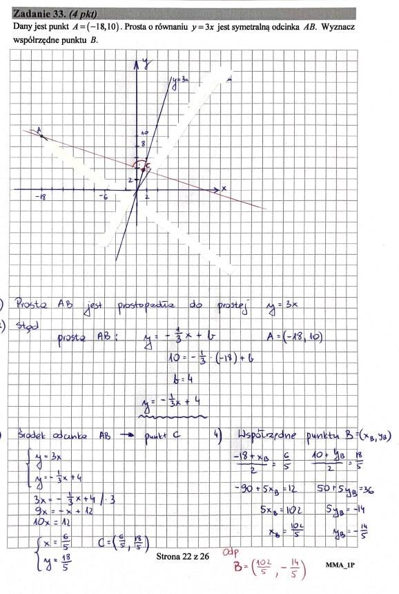 Matura 2019: Matematyka - poziom podstawowy, str. 22 /INTERIA.PL