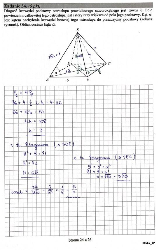 Matura 2019: Matematyka - poziom podstawowy, str. 24 /INTERIA.PL