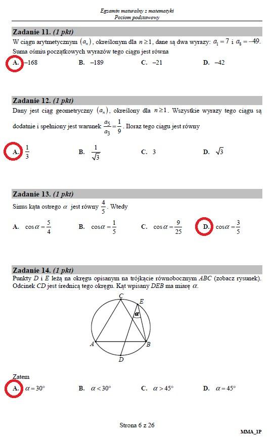 Matura 2019: Matematyka – poziom podstawowy, str. 6 /INTERIA.PL