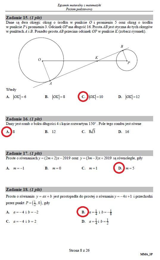 Matura 2019: Matematyka – poziom podstawowy, str. 8 /INTERIA.PL