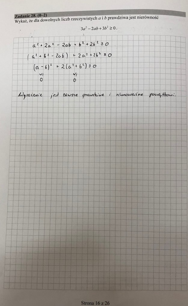 Matura 2019,  matematyka - poziom podstawowy /RMF24