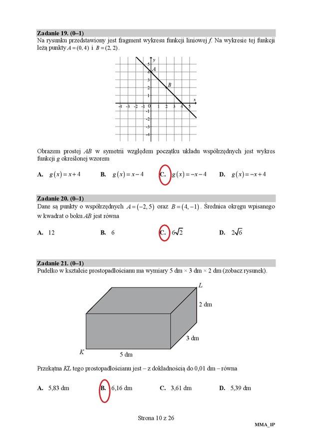 Matura 2019, matematyka poziom podstawowy /RMF24