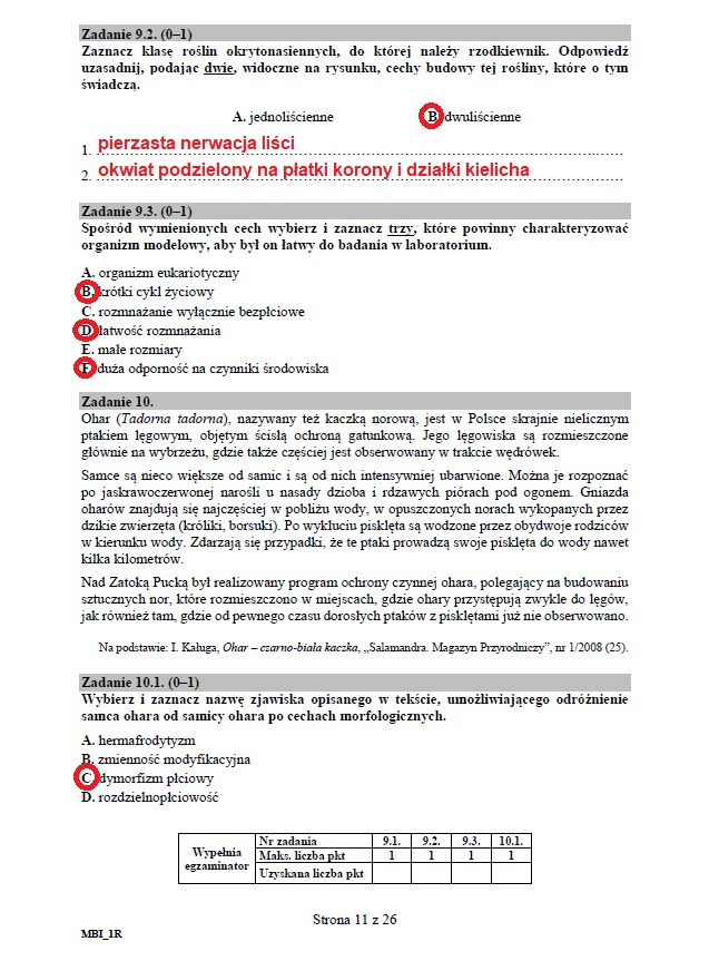Matura 2020: Biologia - arkusz CKE i odpowiedzi, strona 11 /INTERIA.PL