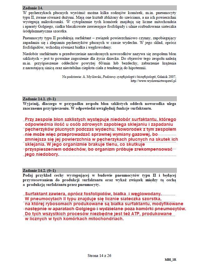 Matura 2020: Biologia - arkusz CKE i odpowiedzi, strona 14 /INTERIA.PL