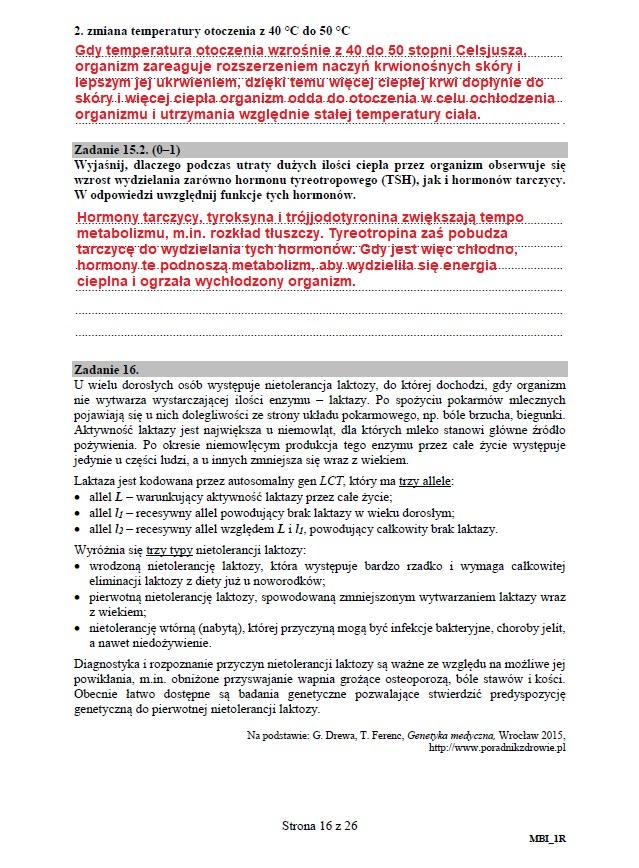 Matura 2020: Biologia - arkusz CKE i odpowiedzi, strona 16 /INTERIA.PL