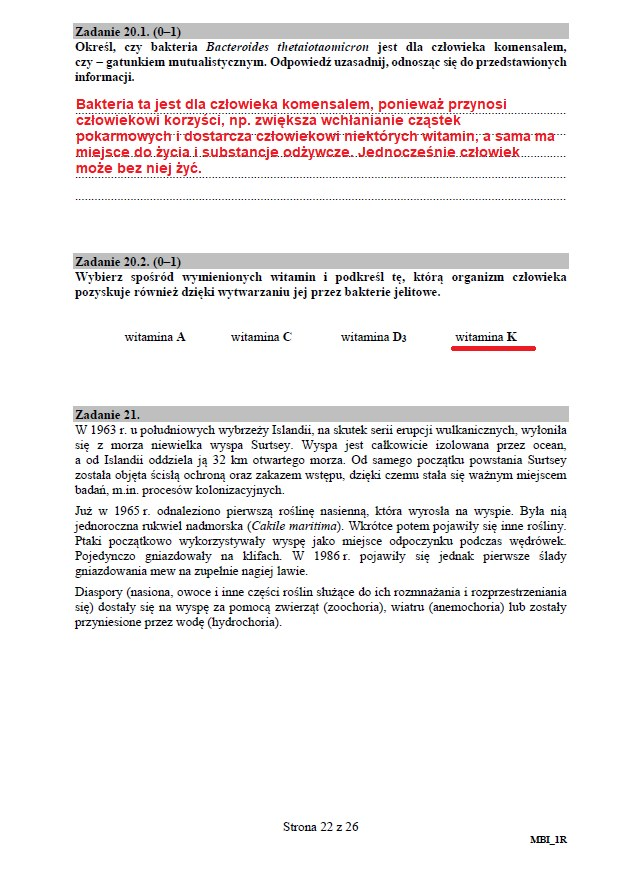 Matura 2020: Biologia - arkusz CKE i odpowiedzi, strona 22 /INTERIA.PL